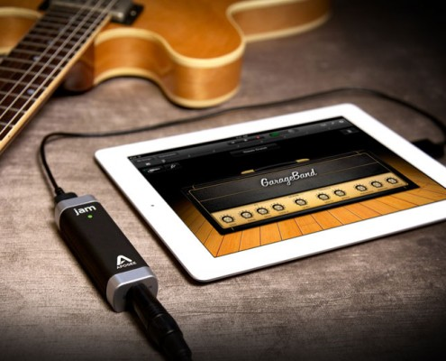 The JAM is a direct digital connection from your guitar cable to the iPad